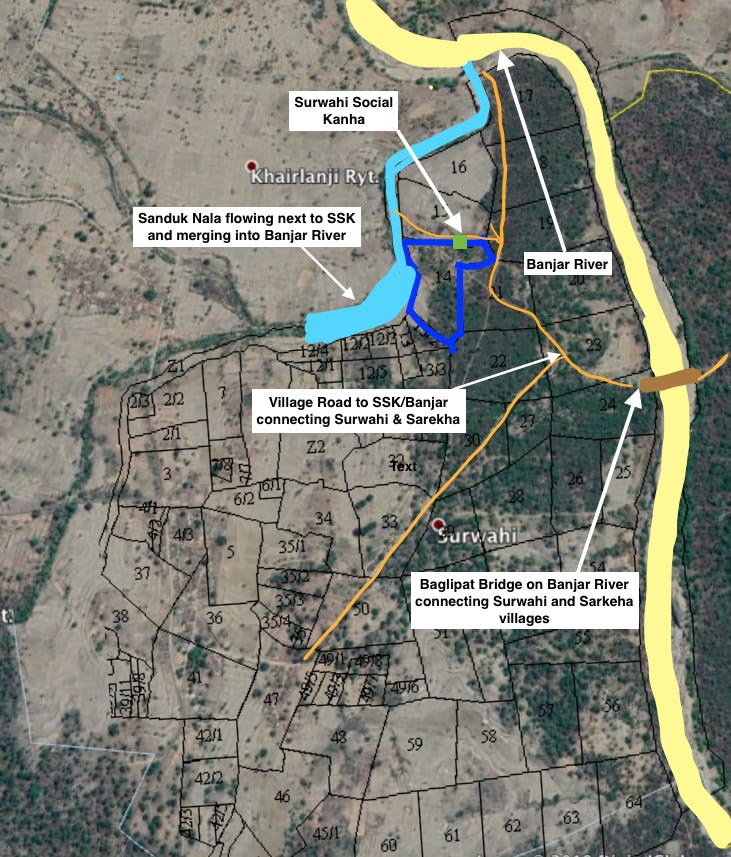 SSK adjacency to Sanduk Nala and Banjar River